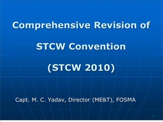 comprehensive revision of   stcw convention   stcw 2010