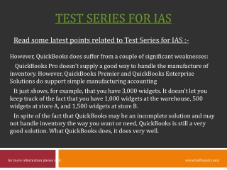 Get Online Test Series for IAS Exam at halfmantr
