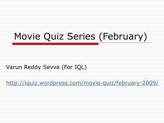 Movie Quiz Series (February)