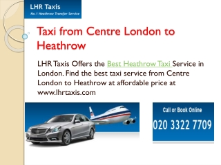 High Class Taxi Service in Lodon