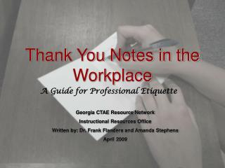 Thank You Notes in the Workplace