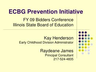 ECBG Prevention Initiative