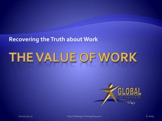The Value of Work