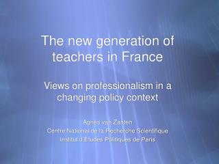 The new generation of teachers in France