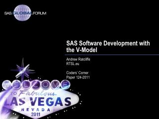SAS Software Development with the V-Model