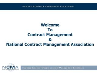 Welcome To Contract Management & National Contract Management Association
