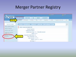 Merger Partner Registry
