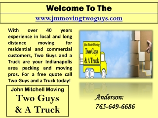 Indianapolis Interstate Movers- Furniture Movers- Packing Companies