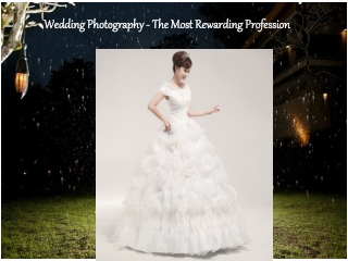 Wedding Photography The Most Rewarding Profession