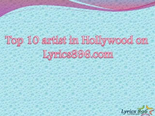 Top 10 Hollywood Artist