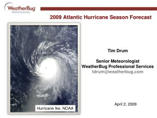 2009 Atlantic Hurricane Season Forecast