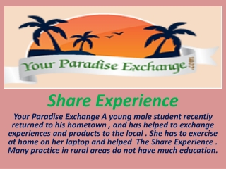 Share Experience