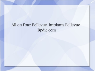 All on Four Seattle | Implants Bellevue