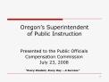 oregon s superintendent  of public instruction