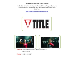 TITLE Boxing Club Palm Beach Gardens