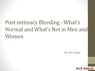 Post-intimacy Bleeding - What