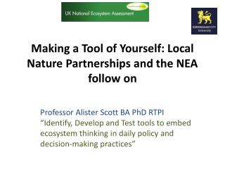 Making a Tool of Yourself: Local Nature Partnerships and the NEA follow on