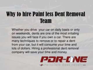 Paintless dent removal Riverside CA