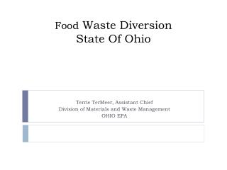 Food Waste Diversion  State Of Ohio