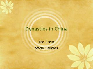 Dynasties in China