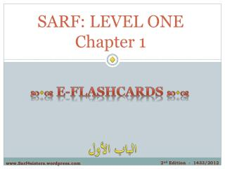 SARF:  LEVEL ONE Chapter 1