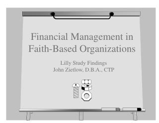 Financial Management in Faith-Based Organizations