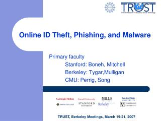Online ID Theft, Phishing, and Malware