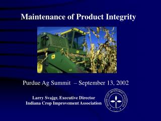 Purdue Ag Summit  – September 13, 2002