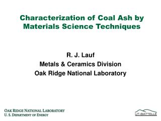 Characterization of Coal Ash by Materials Science Techniques