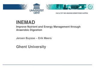 INEMAD Improve Nutrient and Energy Management through Anaerobic Digestion