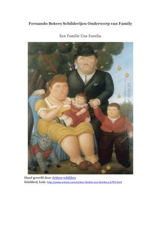Fernando Botero Schilderijen Onderwerp van Family -- Artisoo
