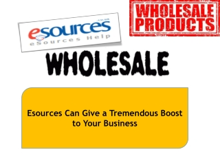 Esources Can Give a Tremendous Boost to Your Business