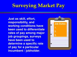 Surveying Market Pay