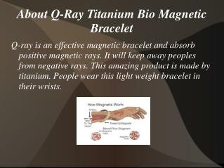 Q Ray Titanium Bracelet