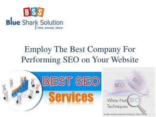 Employ the best company for performing SEO on your website: