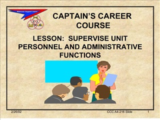 captain s career  course