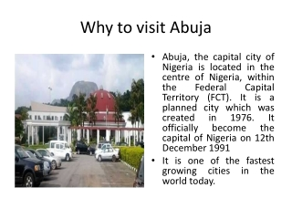 Why to visit Abuja