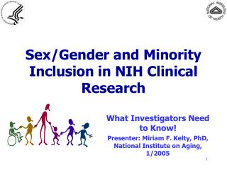 Sex/Gender and Minority Inclusion in NIH Clinical Research