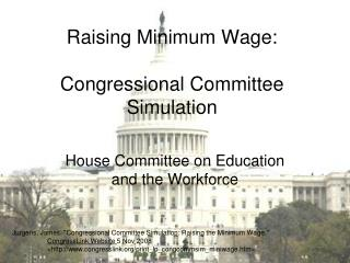 Raising Minimum Wage: Congressional Committee Simulation