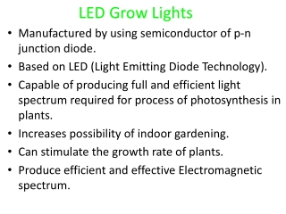 An introduction for LED grow lights