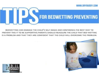 Tips For Bedwetting Preventing