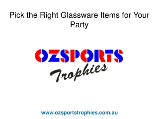 Corporate Promotional Products - Glassware
