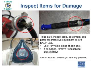 Inspect Items for Damage