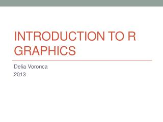 Introduction to R Graphics
