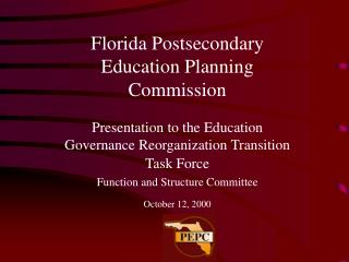 Florida Postsecondary Education Planning Commission