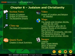 Chapter 6 – Judaism and Christianity