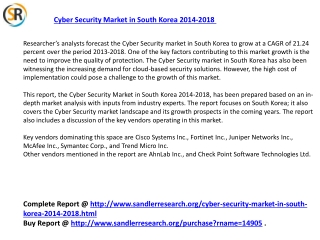2018 Cyber Security Market in South Korea Analysis and Forec