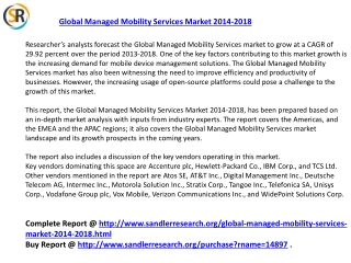 Global Managed Mobility Services Market 2018 Forecast