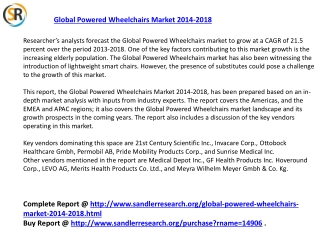 Global Powered Wheelchairs Market 2014 -2018 Research Report