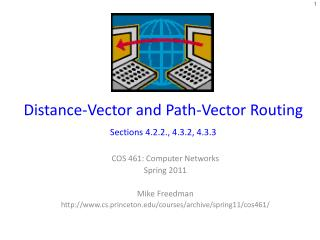 Distance-Vector and Path-Vector Routing   Sections 4.2.2., 4.3.2, 4.3.3